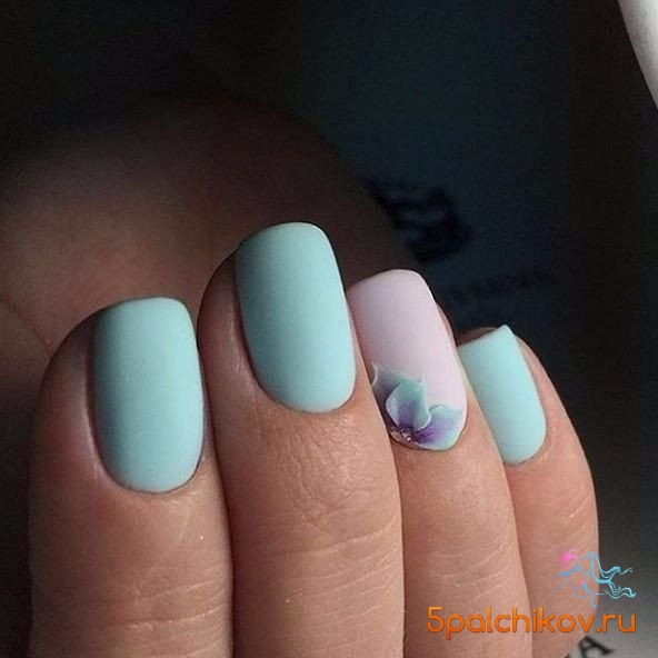 Дизайн ногтей спокойный