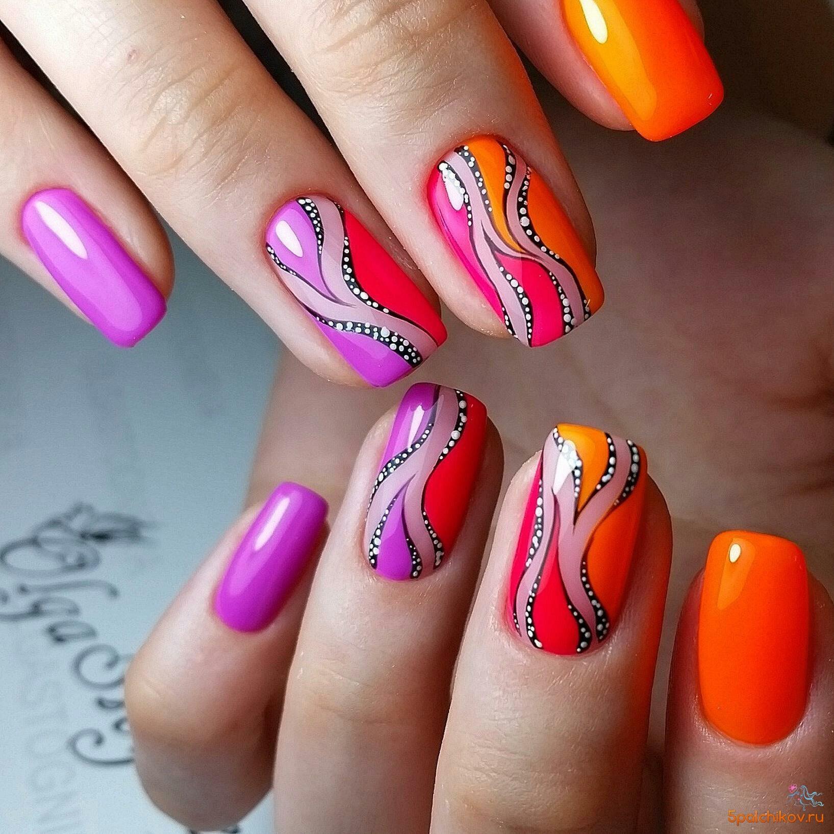 Ногти.яркий дизайн