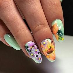 Дизайн цветов на ногтях 2017-2018 новинки
