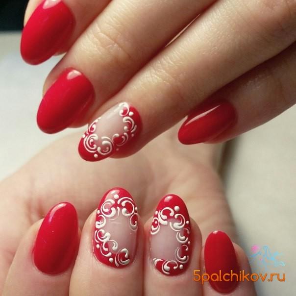 Красные дизайны ногтей