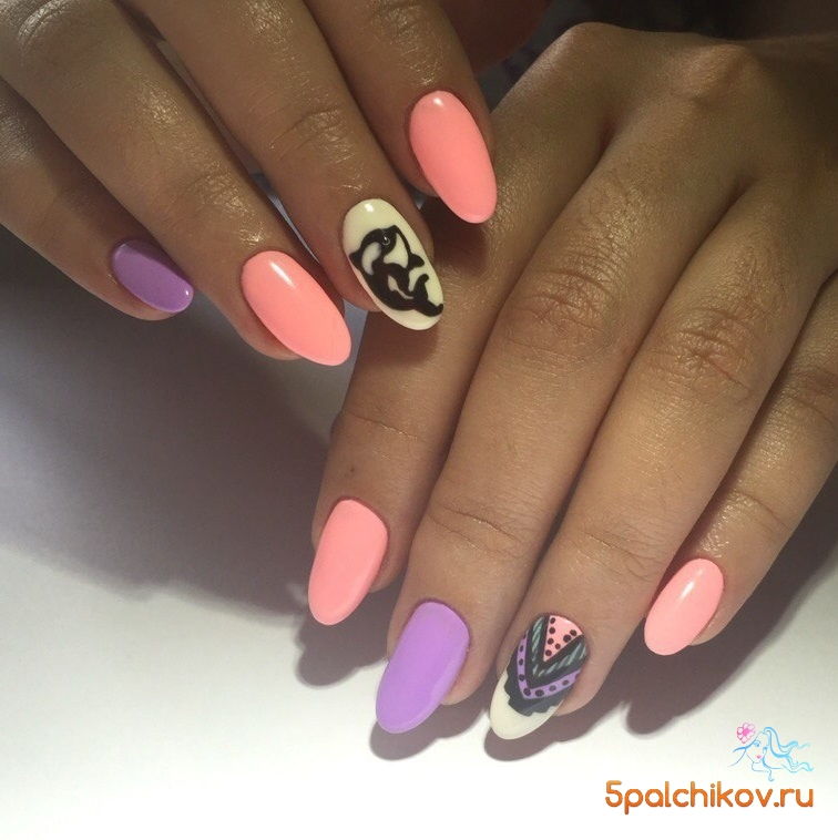 Дизайн ногтей с дельфином фото 72