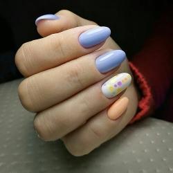 Дизайн ногтей 3 цвета