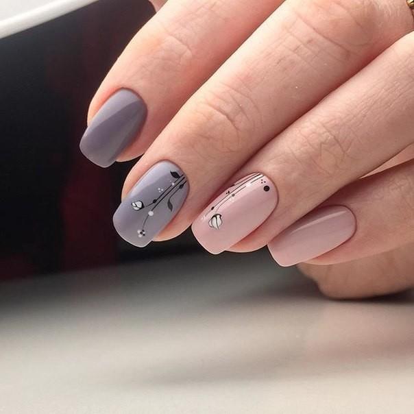 Розовые ногти с дизайном 2017-2018