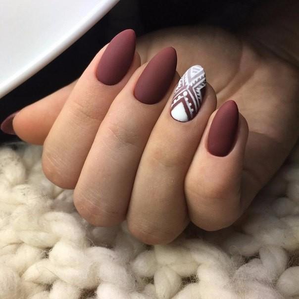 матовые ногти фото с рисунком