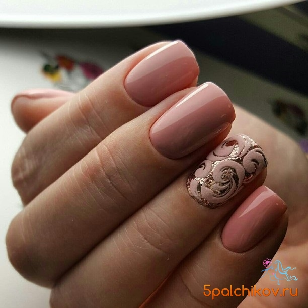 Дизайн ногтей однотонные