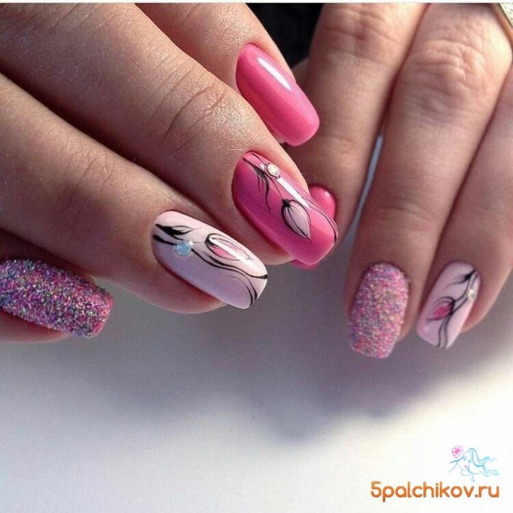 фото ногти дизайн цветы