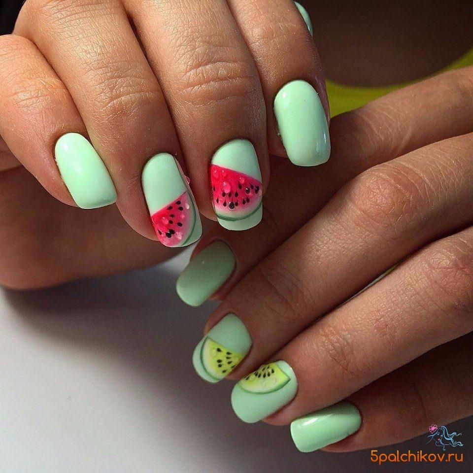 Дизайн ногтей арбузы фото