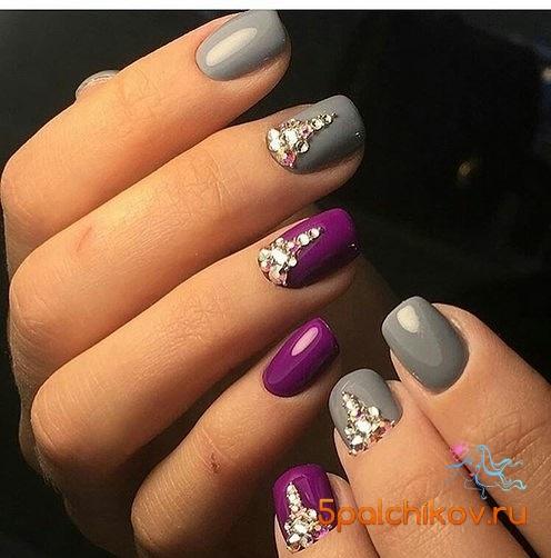 дизайн ногтей цвет серый фото
