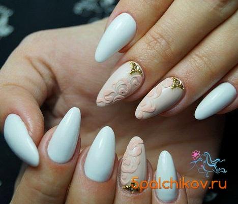 Дизайн ногтей два цвета фото