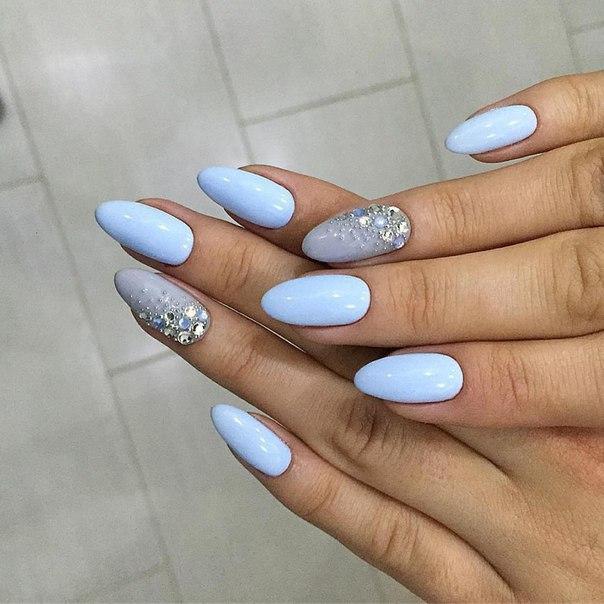 Дизайн ногтей голубых фото
